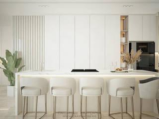 Singapore Carpentry Interior Design Pte Ltd Kitchen units Marble White