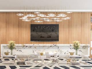 Camila Pimenta   Arquitetura + Interiores Modern Living Room Engineered Wood Wood effect