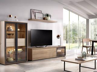 Intense mobiliário e interiores Ruang Keluarga Minimalis