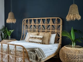 Jo Decor Rustic style bedroom Bamboo White