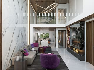 Singapore Carpentry Interior Design Pte Ltd Living room Marble White