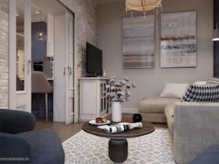 Вира-АртСтрой Scandinavian style living room