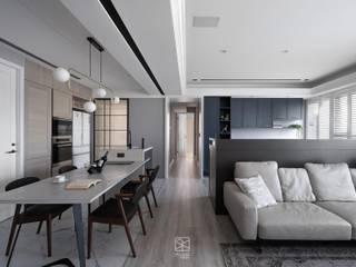 禾廊室內設計 Salas de estar clássicas