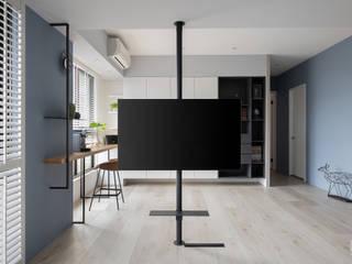 禾廊室內設計 Sala de estarTV e mobiliário