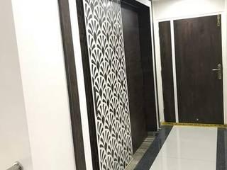 Low Cost Interiors for Duplex villa with 3BHK VeeDesign Studio Asian style doors
