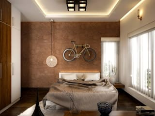 Best & aesthetic designs of Interiors Monnaie Interiors Pvt Ltd BedroomAccessories & decoration Wood Wood effect