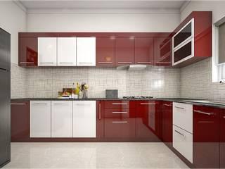 Best & aesthetic designs of Interiors Monnaie Interiors Pvt Ltd KitchenLighting Wood Wood effect