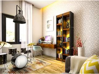 Best & aesthetic designs of Interiors Monnaie Interiors Pvt Ltd Multimedia roomAccessories & decoration Wood Wood effect