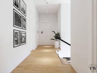 Klaudia Tworo Projektowanie Wnętrz Sp. z o.o. Modern corridor, hallway & stairs