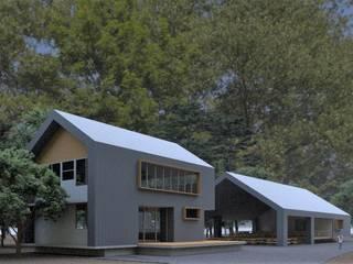 Arquitecto Rafael Viana Balbi - CDMX + Rio de Janeiro Log cabin Aluminium/Zinc Metallic/Silver