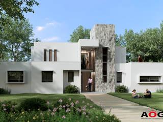 CASA PM AOG Casas unifamiliares Aluminio/Cinc Blanco