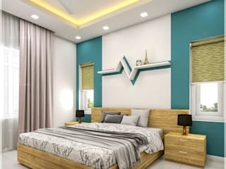 Our creative executions of site interior room areas... Monnaie Interiors Pvt Ltd BedroomAccessories & decoration Wood Wood effect
