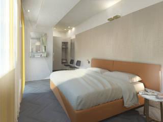 Piccolo loft a Taormina beatrice pierallini Camera da letto moderna