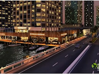 Yantram Architectural Design Studio Corporation Balkon Batu Bata