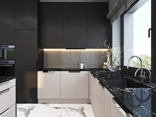 Nowoczesne wnętrza z kontrastem – cz. 1 Ambience. Interior Design Nowoczesna kuchnia