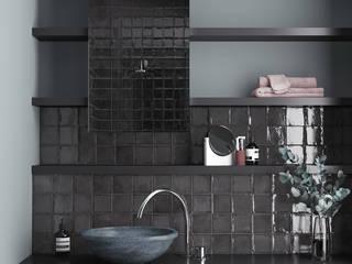Equipe Ceramicas Mediterranean style bathrooms Tiles Black