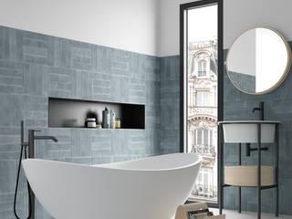 Equipe Ceramicas Scandinavian style bathrooms Tiles Blue