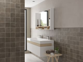 Equipe Ceramicas Modern style bathrooms Tiles Brown