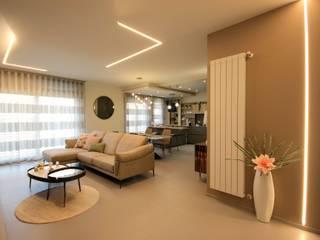 Studio Ferlenda Salas de estilo moderno Beige