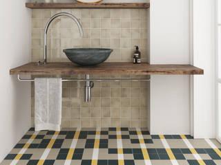 Equipe Ceramicas Eclectic style bathrooms Tiles Multicolored