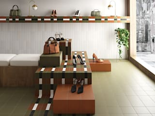 Equipe Ceramicas Eclectic style study/office Tiles Multicolored