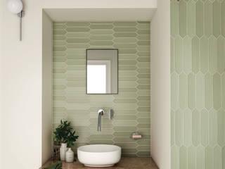 Equipe Ceramicas Modern style bathrooms Tiles Green