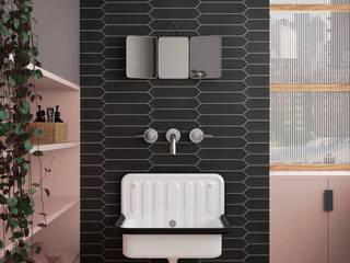 Equipe Ceramicas Modern style bathrooms Tiles Black