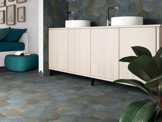 Equipe Ceramicas Industrial style bathrooms Tiles Blue