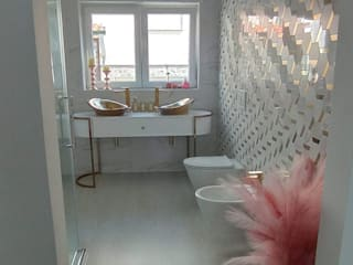 sala de banho Melissa vilar Casas de banho modernas Azulejo Multicolor