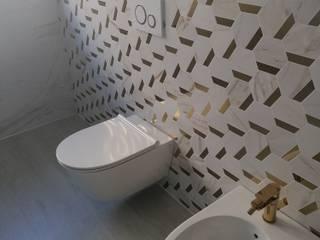 sala de banho Melissa vilar Casas de banho modernas Cerâmica Branco