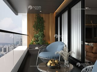 Norm designhaus Balkon Zwart
