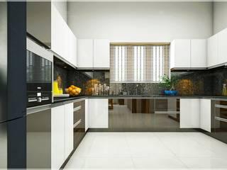 Our original output interior designs... Monnaie Interiors Pvt Ltd KitchenKitchen utensils Wood Wood effect