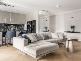 Anna Serafin Architektura Wnętrz Modern living room Wood Beige