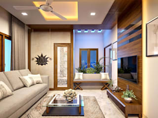 Here are the best Luxury interior design ideas... Monnaie Interiors Pvt Ltd Living roomAccessories & decoration Wood Wood effect