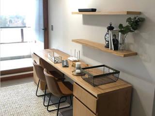 Entorno Estudios Study/officeDesks Solid Wood Wood effect