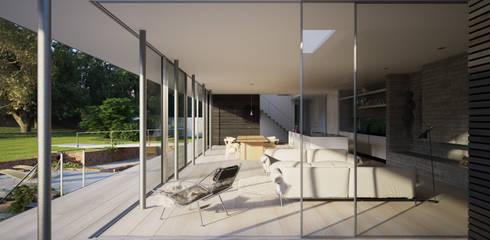 skandinavische Wohnzimmer von Strom Architects