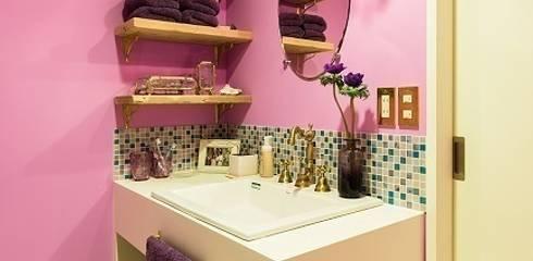 おとぎ話のようなお家~洗面室: 株式会社 TRUSTが手掛けたです。
