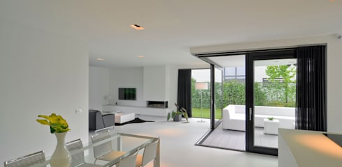 K&N 10: moderne Woonkamer door CKX architecten