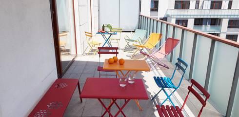 Balconies, verandas & terraces  by Pracownia Projektowa Hanna Kłyk