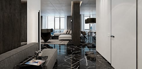 Couloir et hall d'entrée de style  par Diff.Studio