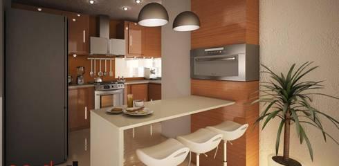 Projekty,  Kuchnia zaprojektowane przez GarDu Arquitectos