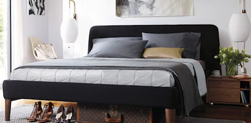 Parallel Queen Bed: Recámaras de estilo moderno por Design Within Reach Mexico