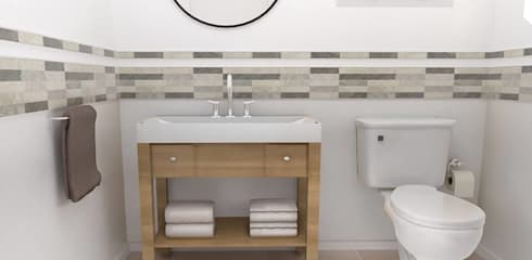 scandinavian Bathroom by Bhavana
