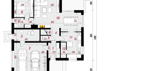 Projekt: Dom w tawułach (G2): styl , w kategorii  zaprojektowany przez ARCHON+ PROJEKTY DOMÓW