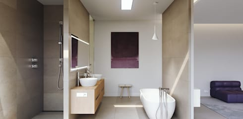 Bathroom by GESTEC. Arquitectura & Ingeniería