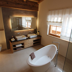 homify Salle de bain rurale