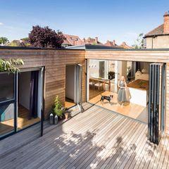 Courtyard House - East Dulwich Designcubed Modern Balkon, Veranda & Teras