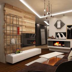 Гостиная studio forma Гостиная в стиле лофт