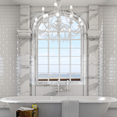 Classic bathroom 3d visual homify Baños