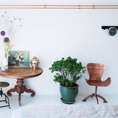 koperen buizen IJzersterk interieurontwerp Moderne slaapkamers
